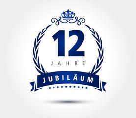 12 Jubilaeum laurel krone