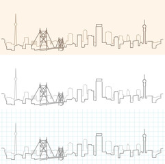 Johannesburg Hand Drawn Skyline