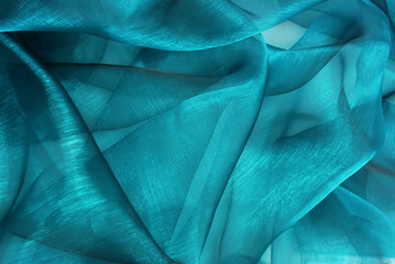 closeup of the wavy organza fabric