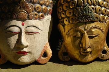 Masques antiques, Bali, Indonésie