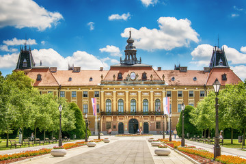 Sombor, Serbia July 12, 2017: The County Hall in Sombor, Serbia