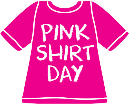 Bullying stops here - pink shirt day