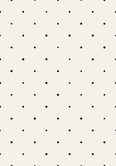 Seamless monochrome pattern with dots. Vector repeating texture.