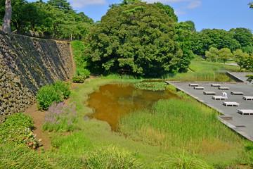 Kanazawa, Japan - august 2 2017 : 15 th century castle