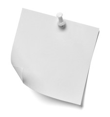 note paper push pin message