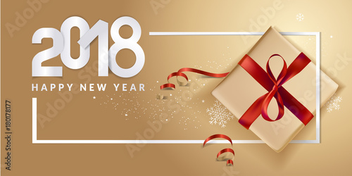 new year greeting card luxurious vector illustration concept for greeting cards web banner