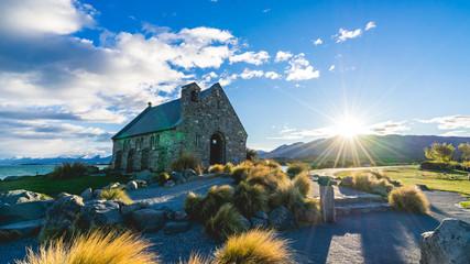 Church of the good Shepherd at lake Tekapo, South Island, Newzealand