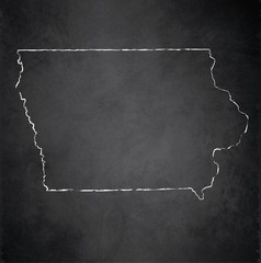 Iowa map blackboard chalkboard vector