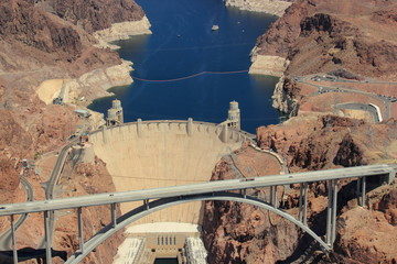 Hover Dam with Water Behind