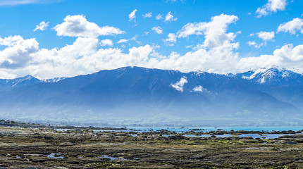 Panorama of Ocean and Mountain