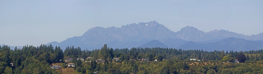 Cascade Mountains over Puget Sound