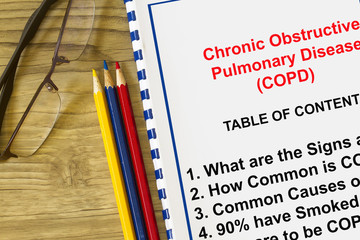 COPD and related lung disease concept