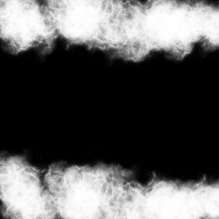 Abstract smoke on a black background at night.