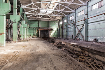 The abandoned shop of the cement plant