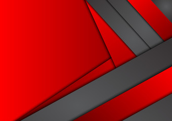Black and red geometric abstract vector background