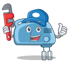 Plumber mixer character cartoon style