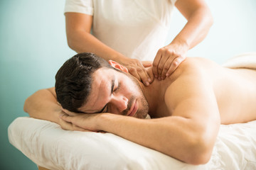 Deep tissue massage at a spa