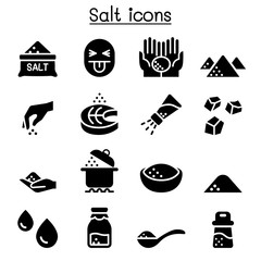 Salt icon set vector illustration graphic design