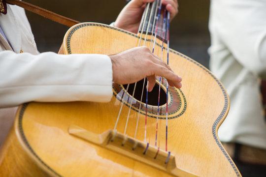 Mariachi Playing Guitarrón
