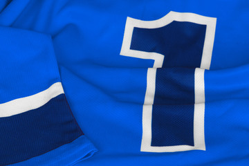 Hockey sweater dark blue with number one