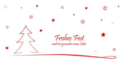 Weihnachtskarte Frohes Fest und ein gesundes neues Jahr
