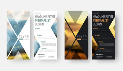 Design of a vector flyer in a minimalist style with a place for a photo