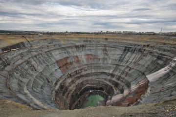 Алмазный карьер Мир Якутия