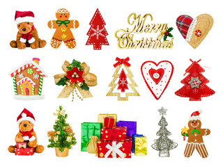 collage of festive Christmas symbols