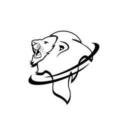 Wild Animal - lion - vector logo/icon illustration