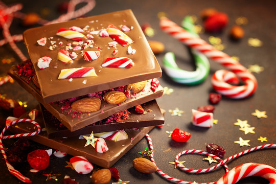 Christmas chocolate bark