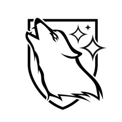 Wild Animal - wolf - vector logo/icon illustration