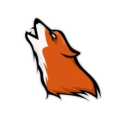 Wild Animal - wolf - vector logo/icon illustration