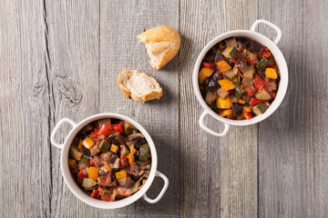 Ratatouille, classic French stew of summer vegetables