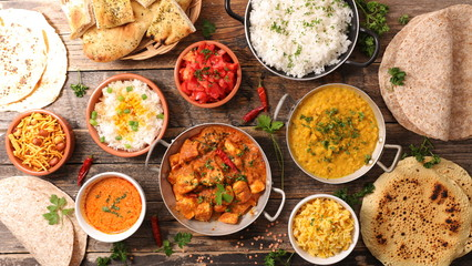 assorted indian food Wall mural
