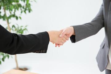 握手するビジネスウーマン