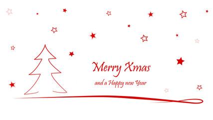 weihnachtskarte Merry Xmas and a Happy new year für Weihnachten