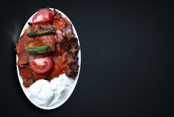 Kebap with yogurt is one of the most famous meat foods of northwestern Turkey.