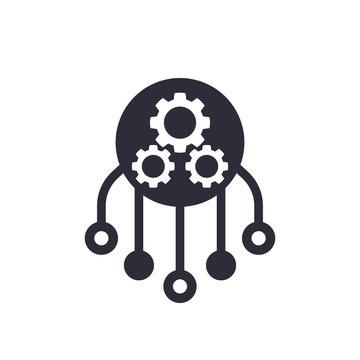 Resources allocation icon