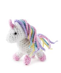 Crocheted amigurumi toy
