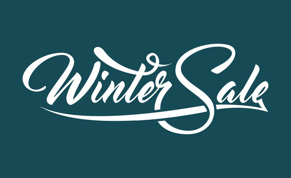 White text Winter Sale