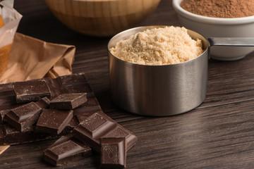 Muffins baking ingredients