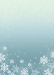 Illustration mit Schneeflocken mit Blaue Verlauf und Glitzer