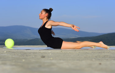 Flexibility in acrobatics and fitness health.