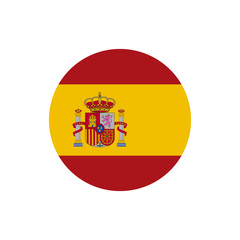Spain flag, official colors and proportion correctly. National Spain flag. Vector illustration