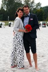 Hochzeit Paar Strand