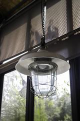 Decorating hanging vintage bulb lamp