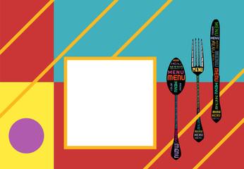 menu design template,modern art style, vector, free copy space