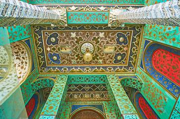 Portico of Windcatchers building of Golestan, Tehran