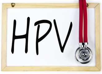 HPV sign on blackboard