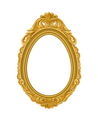 oval gold vintage picture frame